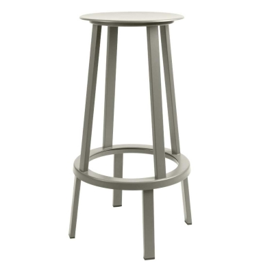 Revolver Bar Stool - 75cm - Grey (Fast Track)
