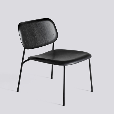 Soft Edge 10 Lounge - Black Leather