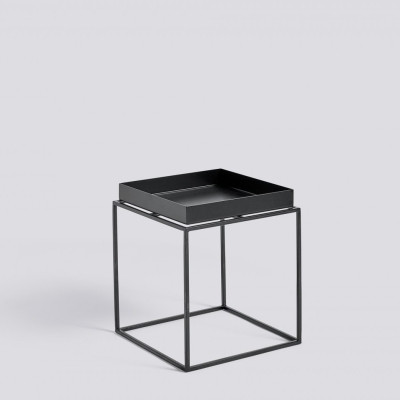 Tray Table - 30x30 - Black/White