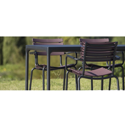 Four Outdoor Dining Table 90cmx160 - Black