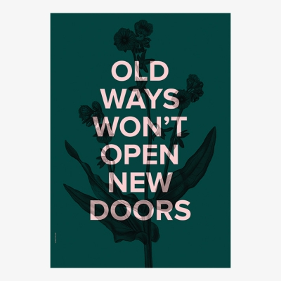 New Doors Poster - Racing Green - 50x70