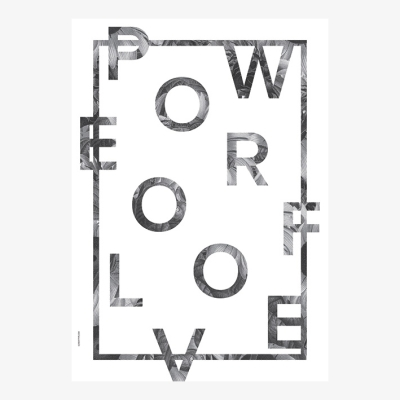 Power Of Love Poster - White - 50x70