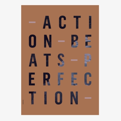 Action Perfection Poster - Amber - A3