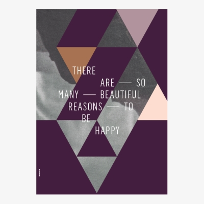 Beautiful Reasons Poster - Plum - 50x70