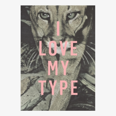 I Love My Type Poster - Puma - A3