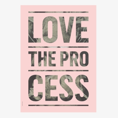 Process Poster - Light Pink - 50x70