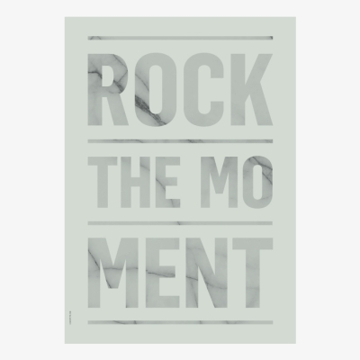 Rock The Moment Poster - Green - A3