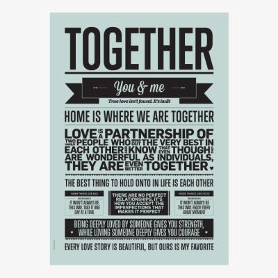 Together Poster - Aqua - 50x70