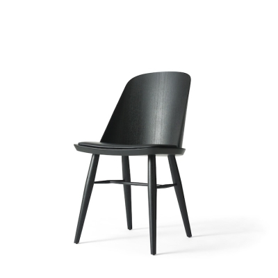 Synnes Chair - Leather Seat - Oak/Black Ash