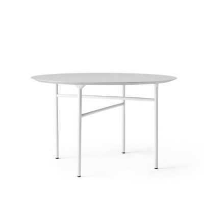Round Snaregade Table - 120cm dia - Linoleum Tabletop