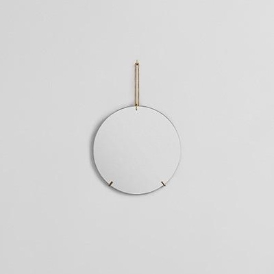 Wall Mirror - Brass - 30cm dia