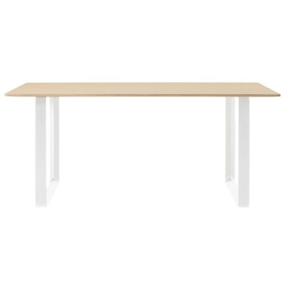 70/70 Oak Table - 170cmx85cm - Black/White/Grey