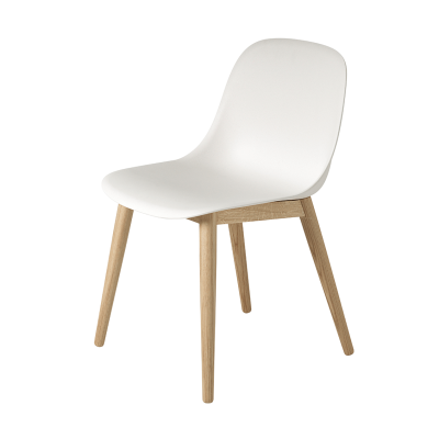 Fiber Side Chair -Wood Base- White/Black/Grey/Green/Red