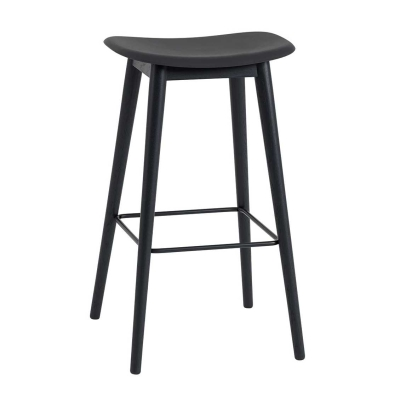 Fiber Bar Stool - H75 - Wood Base