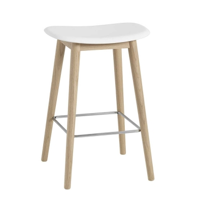 Fiber Bar Stool - H65 - Wood Base
