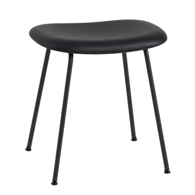 Fiber Stool - Tube Base - Leather