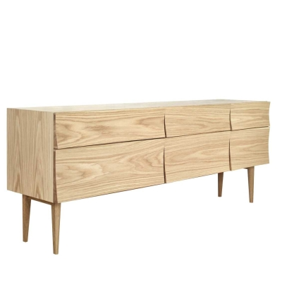 Reflect Sideboard - Large - Oak/Black
