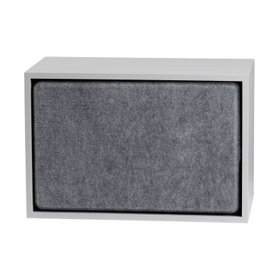 Stacked - Large - Acoustic Panel - Black/Grey/Aqua