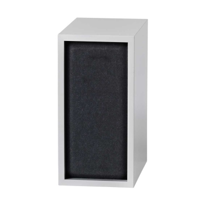 Stacked - Small - Acoustic Panel - Black/Grey/Aqua