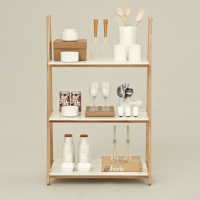 One Step Up Bookcase - Low - White