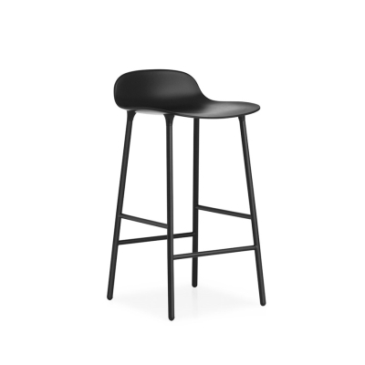 Form Barstool - Steel Base - Black/White/Grey/Blue/Green/Red