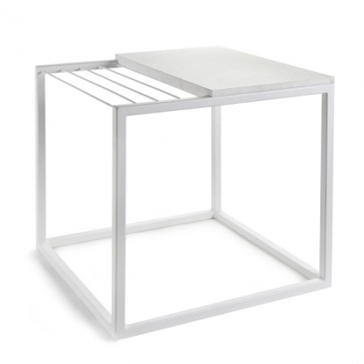 Hang It Table - White Marble - 47x47xH49