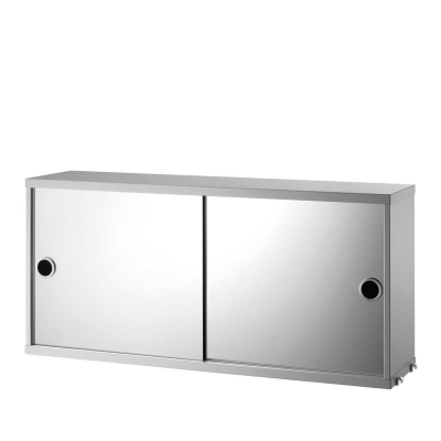 Cabinet With Mirrors - 78cm x 37cm x 20cm - Grey