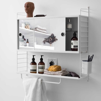 Cabinet With Mirrors - 78cm x 37cm x 20cm - White