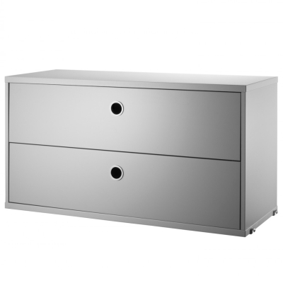 Chest Two Drawers - Grey