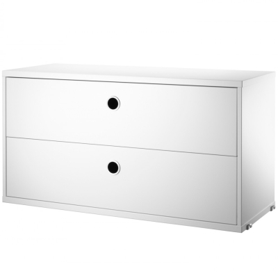 Chest Two Drawers - White