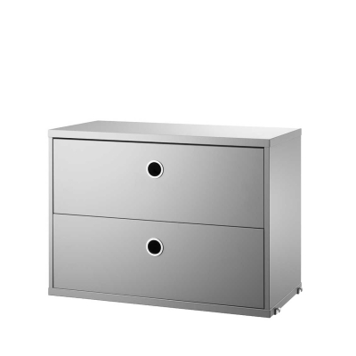Chest Two Drawers - Grey - 58cm x 30cm