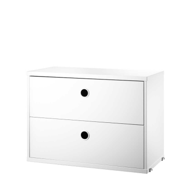 Chest Two Drawers - White - 58cm x 30cm