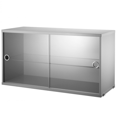 Display Cabinet Sliding Doors - Grey