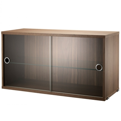 Display Cabinet Sliding Doors - Walnut