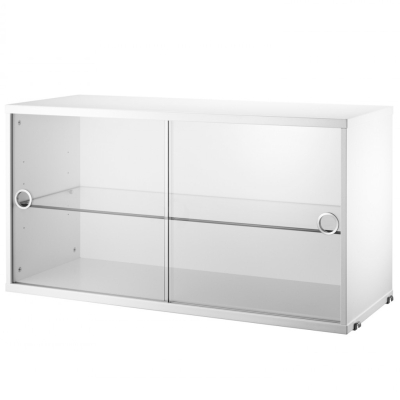 Display Cabinet Sliding Doors - White