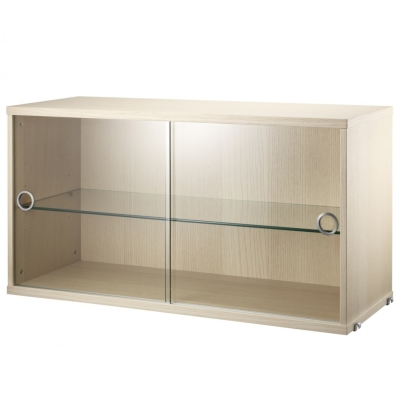 Display Cabinet Sliding Doors - Ash