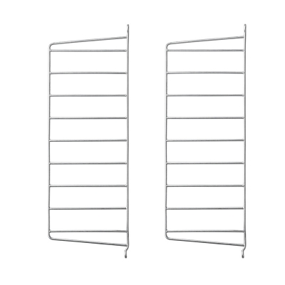 Side Panel Floor (set of 2) - 50cm x 20cm - Galvanized (Outdoor Use)