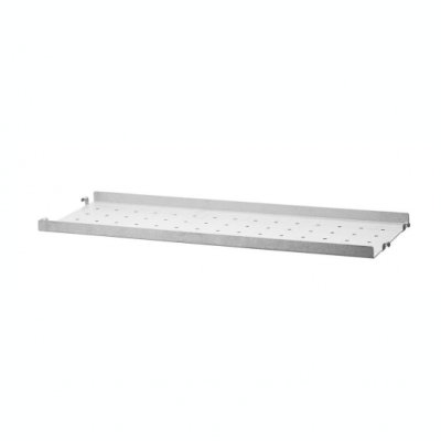 Galvanized Metal Shelf - H2cm x D20cm (Outdoor Use)