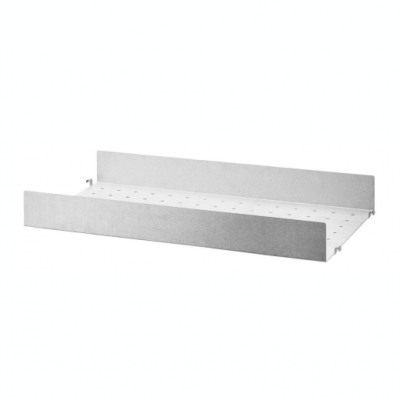 Galvanized Metal Shelf - H7cm x D30cm (Outdoor Use)