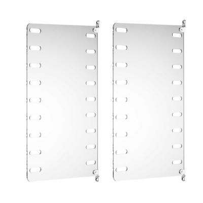 Side Panel Wall (set of 2) - 50cm x 30cm - Perspex