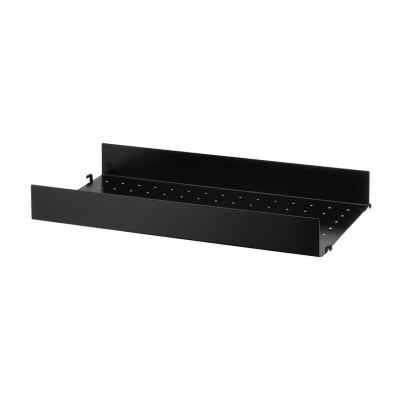 High Edge Metal Shelf 58cm - Black/White/Grey