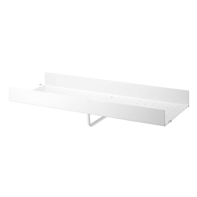 High Edge Metal Shelf 78cm - Black/White/Grey