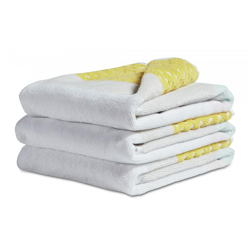 Hay guest towel autumn yellow handdoek for Hay design milano
