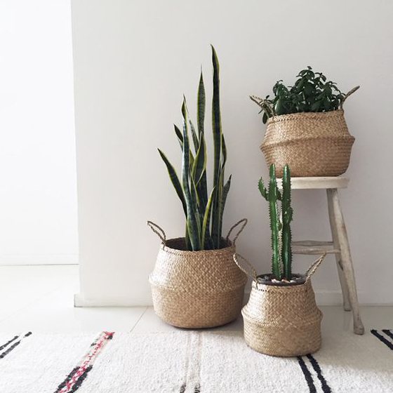 Bloomingville Seagrass Basket Mand