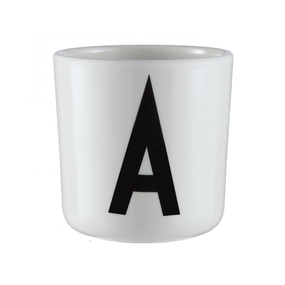 design letters melamine cup beker the shop online. Black Bedroom Furniture Sets. Home Design Ideas