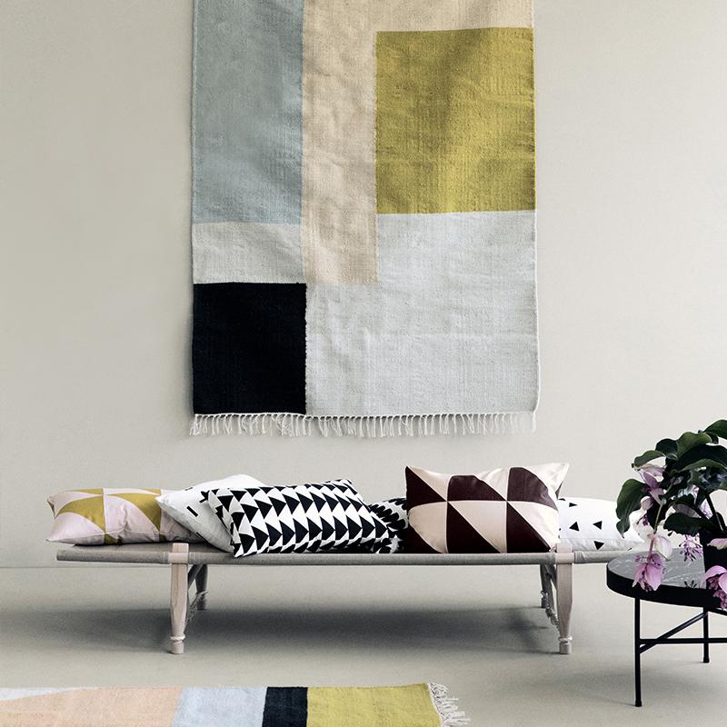 ferm living kelim rug squares small tapijt. Black Bedroom Furniture Sets. Home Design Ideas
