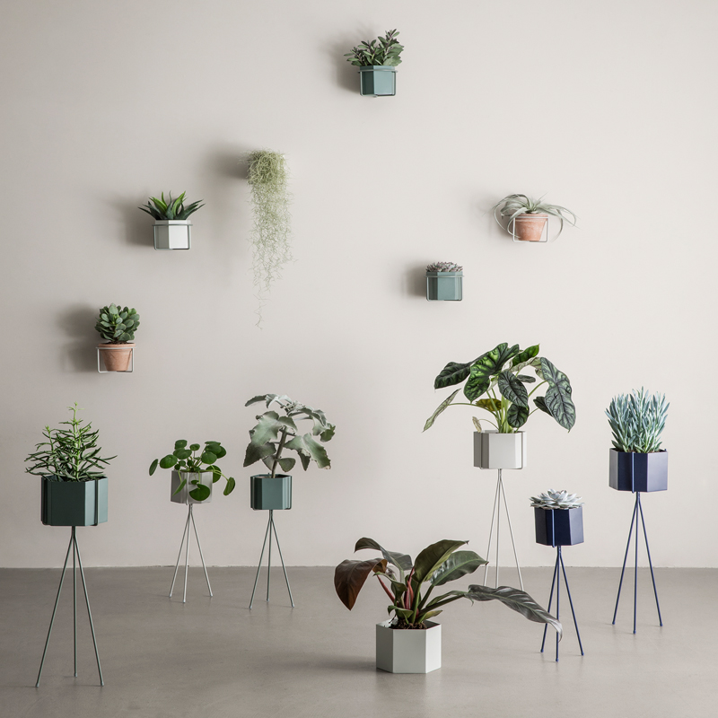 Ferm living plant stand blue large plantstand - Elegant ways to display air plants in your home ...