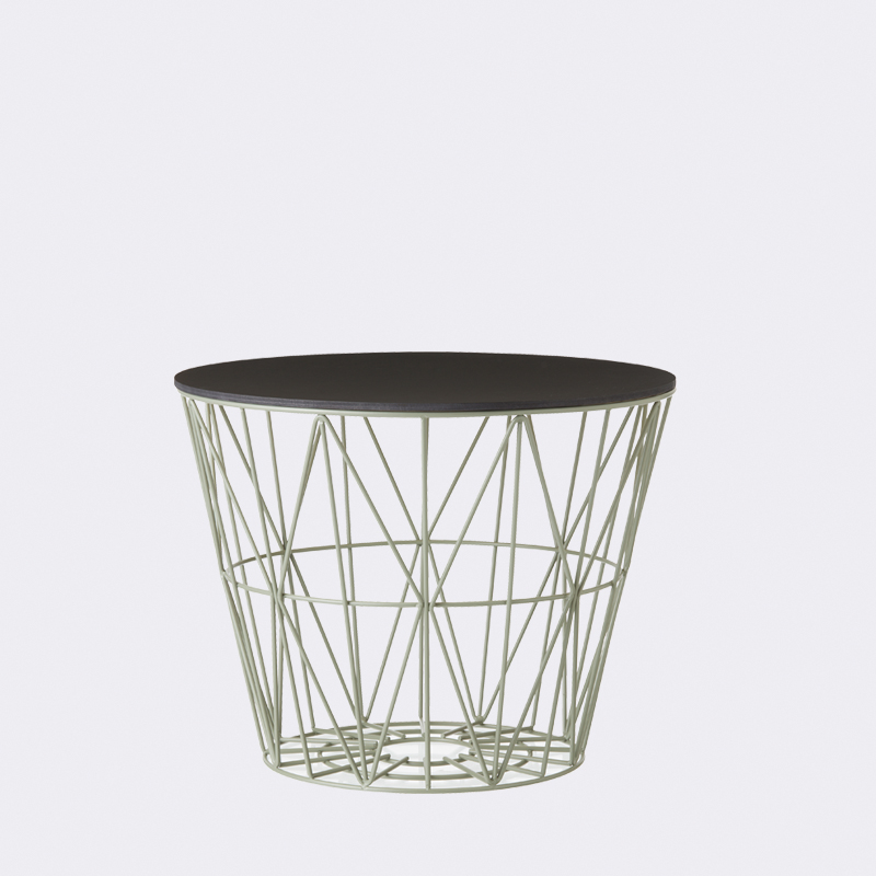 ferm living wire basket dusty green small mand the. Black Bedroom Furniture Sets. Home Design Ideas
