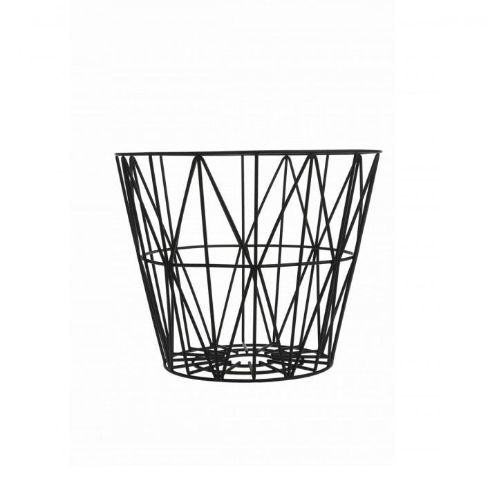 ferm living wire basket black large mand the shop online. Black Bedroom Furniture Sets. Home Design Ideas