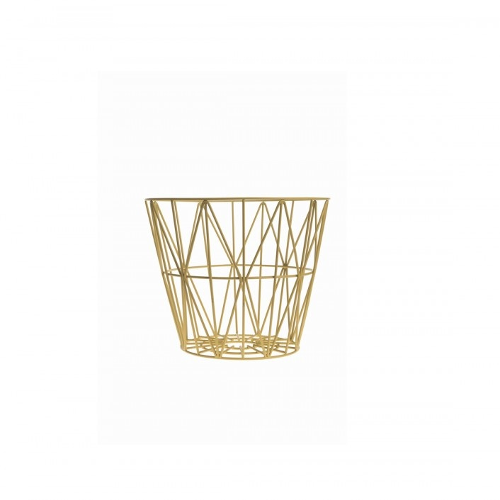 ferm living wire basket yellow small mand the shop. Black Bedroom Furniture Sets. Home Design Ideas